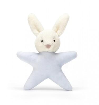 Jellycat Blue Star Bunny Rattle
