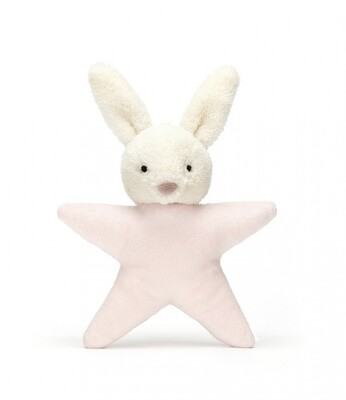 Jellycat Pink Star Bunny Rattle