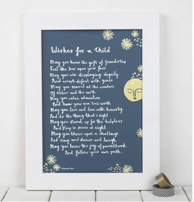 Bespoke Verse Wishes for a Child Print