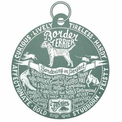 Debbie Kendall Border Terrier Dog Tag Print