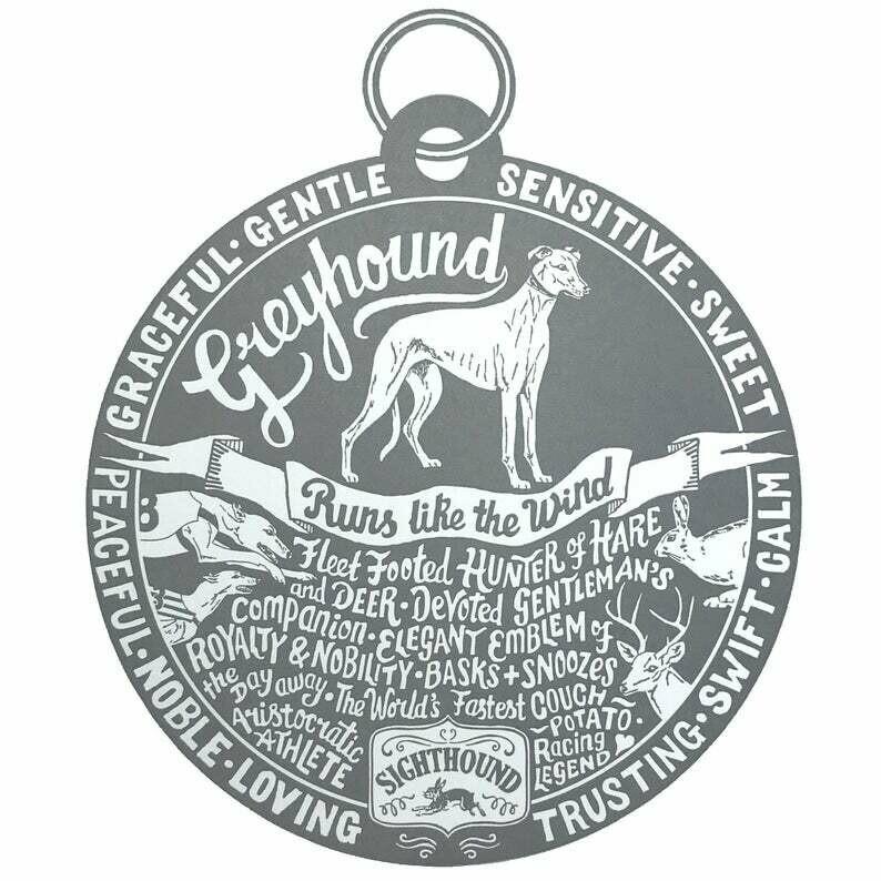 Debbie Kendall Greyhound Dog Tag