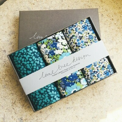 Lime Tree Design 3 Liberty Hankies in a Gift Box