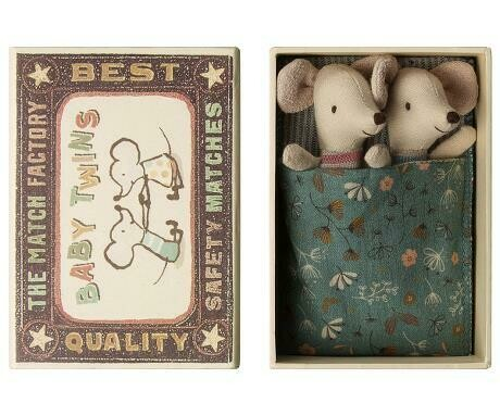 Maileg Baby Twins in a Matchbox