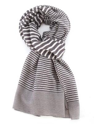 Fashion Scarf Stripes Grey