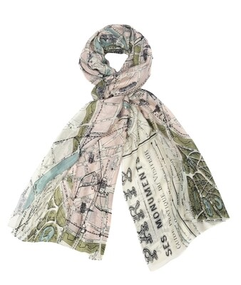 One Hundred Stars Map Scarf Paris