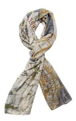 One Hundred Stars Scarf New York Map