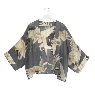 One Hundred Stars Kimono Stork Slate