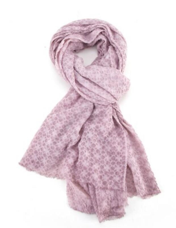 Fashion Scarf dusty pink diamond