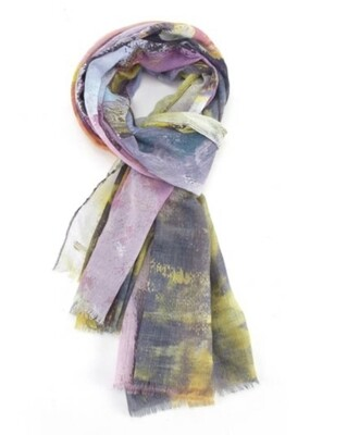 Fashion Scarf Abstract Cactus