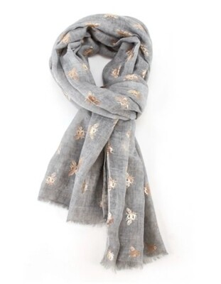 Fashion Scarf rose gold bee
