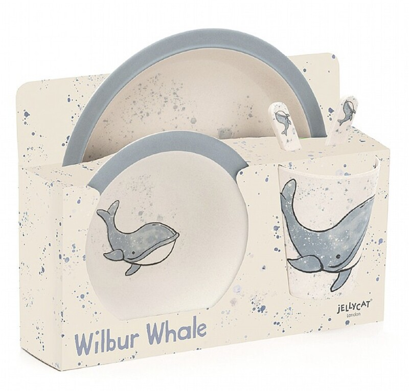 Jellycat Bamboo Wilbur Whale Set