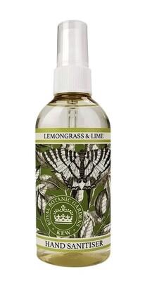 Kew Gardens Hand Sanitiser Lemongrass and Lime