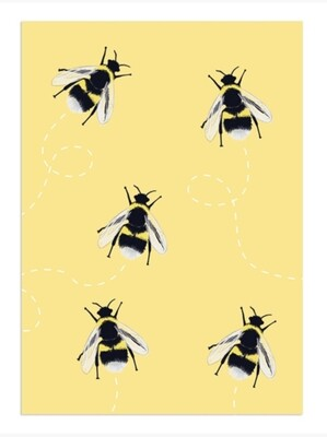 Pack of Bee Notecards