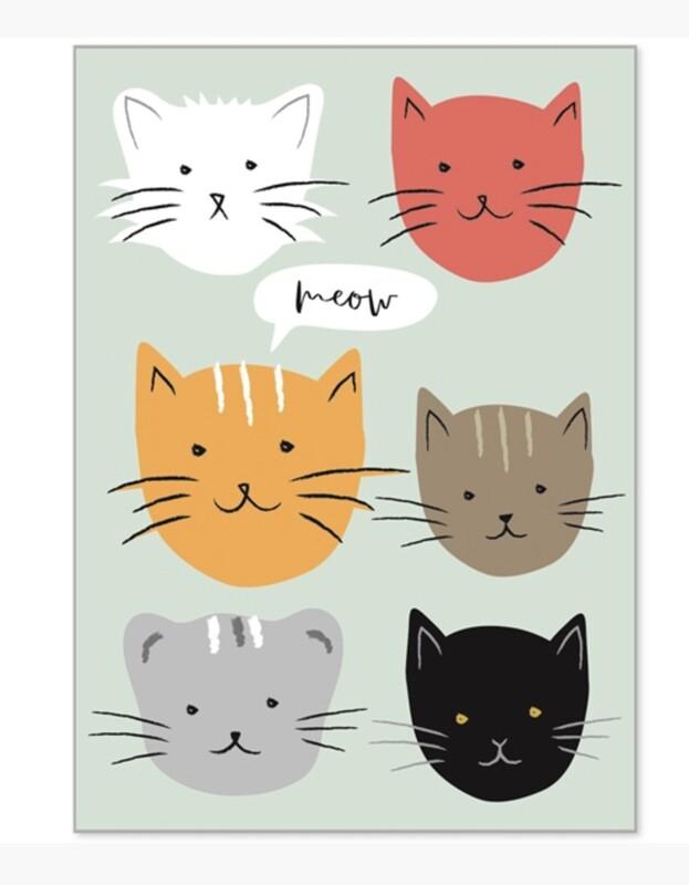 Pack of 8 Kitten Notecards