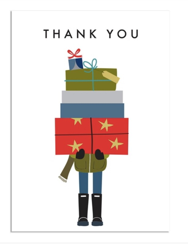 Pack of 8 Thank You Notecards Boy