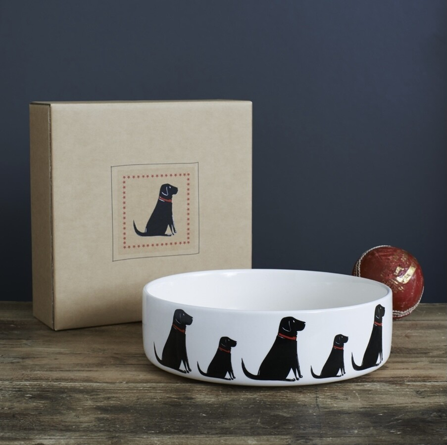 Sweet William Dog Bowl - Black Labrador