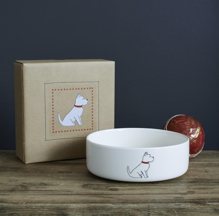 Sweet William Dog Bowl - Westie