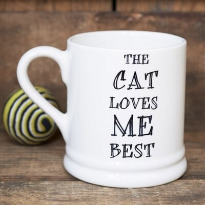 Sweet William Mug - The Cat Loves Me Best