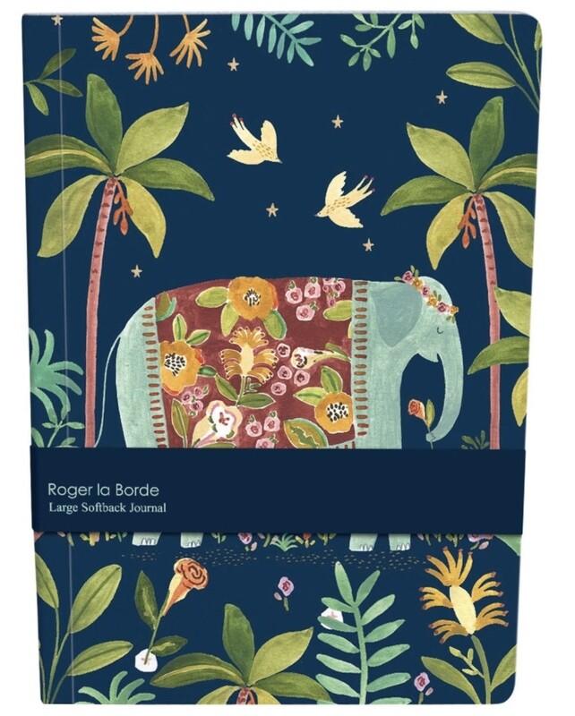 Roger la Borde Large Softback Journal Elephant
