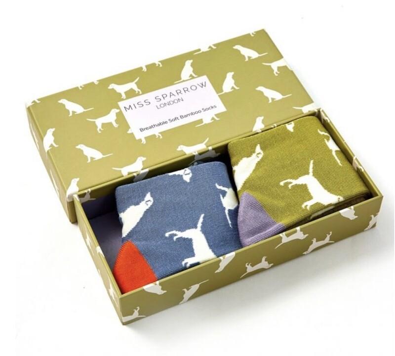 Ladies Bamboo Socks Box of Labrador Socks