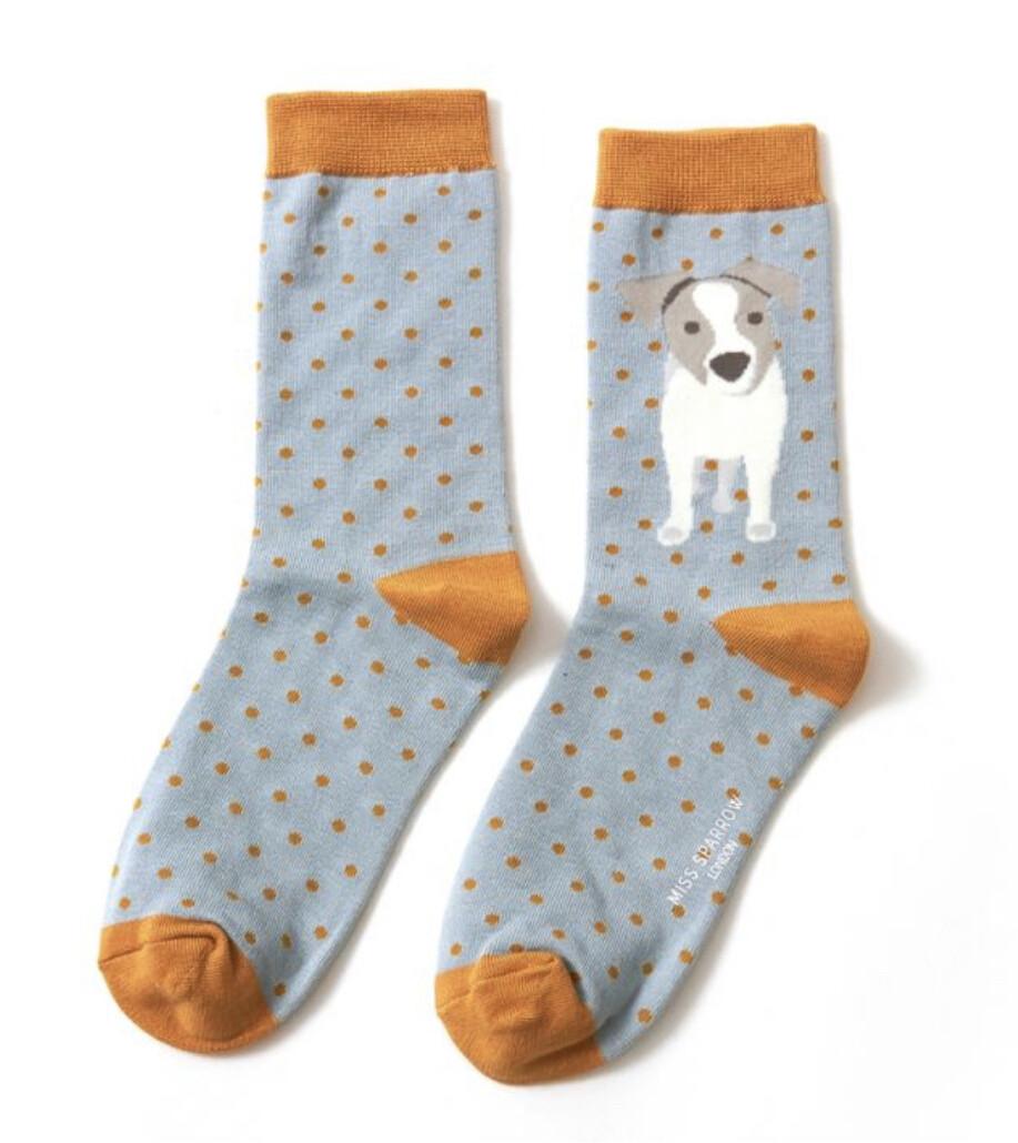Ladies Bamboo Socks Jack Russell