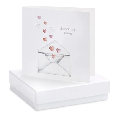 Crumble and Core Boxed Sending Love Earring Card