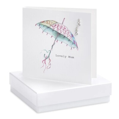Crumble and Core Lovely Mum Earring Card