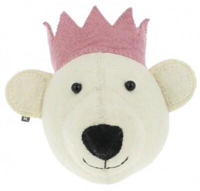 Fiona Walker Bear with Pink Crown Mini Head