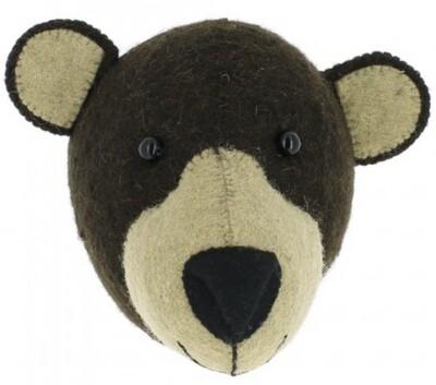 Fiona Walker Brown Bear Mini Head