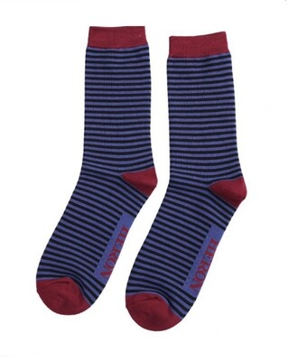 Men's Bamboo Socks Blue stripe