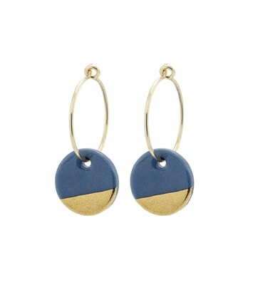 One & Eight Grey Porcelain Dipped Earrings
