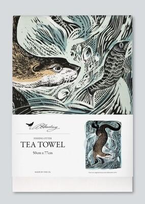 Angela Harding Tea Towel   Otter