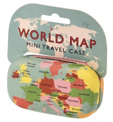 Mini Travel Case - World Map