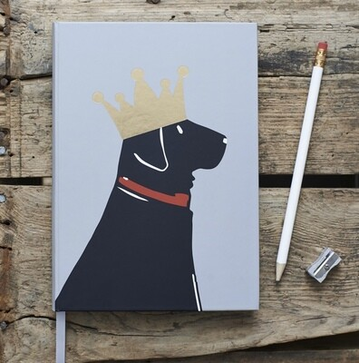 Sweet William Black Labrador Notebook