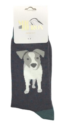 Men's Bamboo Socks Grey Jack Russell