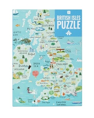Jigsaw Puzzle UK Map 1000 Pieces