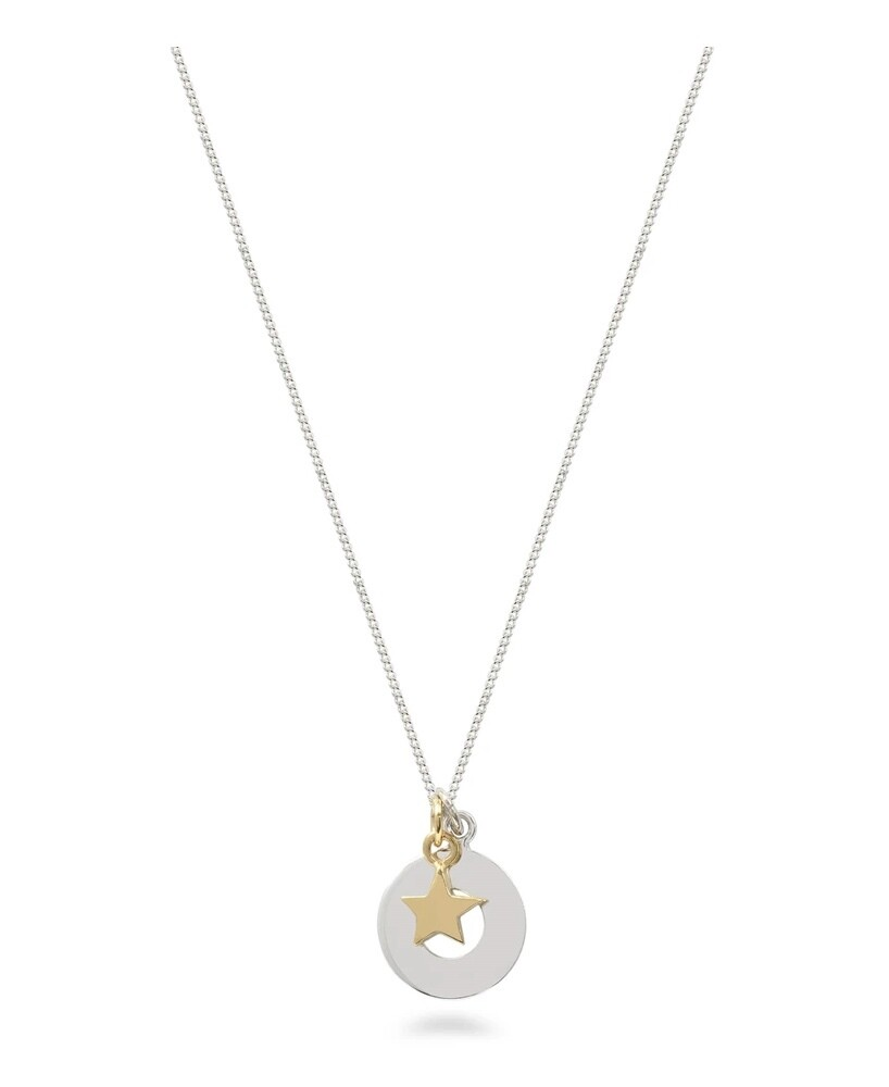 Lime Tree Design Circle and Star Necklace