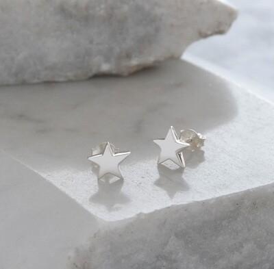 Lime Tree Design Star Earrings Sterling Silver