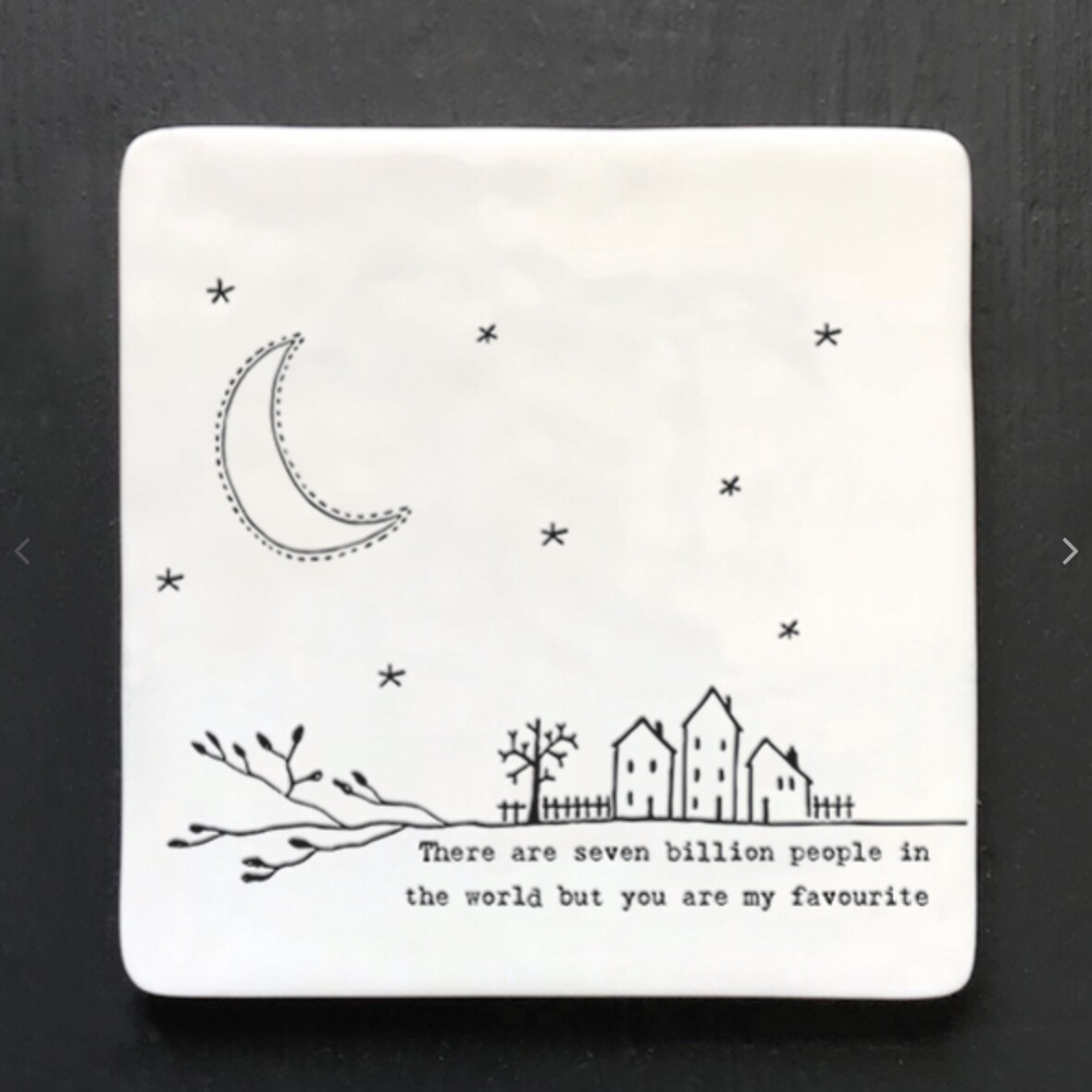 East of India Ceramic Coaster - Seven Billion People
