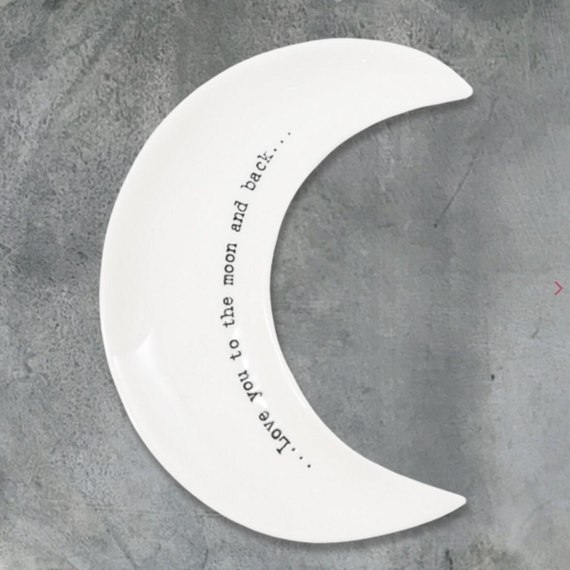 East of India Ceramic Moon Dish