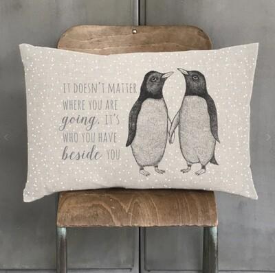 East of India Penguin Cushion