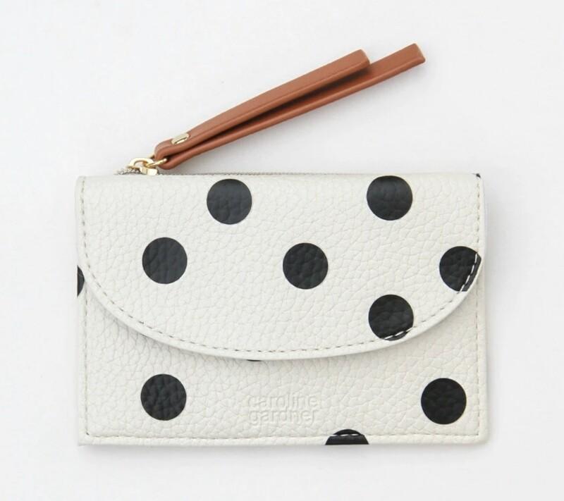 Caroline Gardner Small Coin / Card Purse - Spot