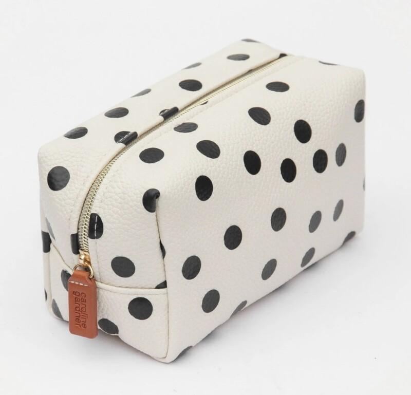 Caroline Gardner Make Up Bag - Spot