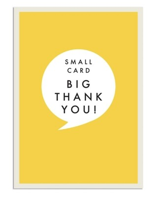 Pack of 8 Notecards Yellow Thank You
