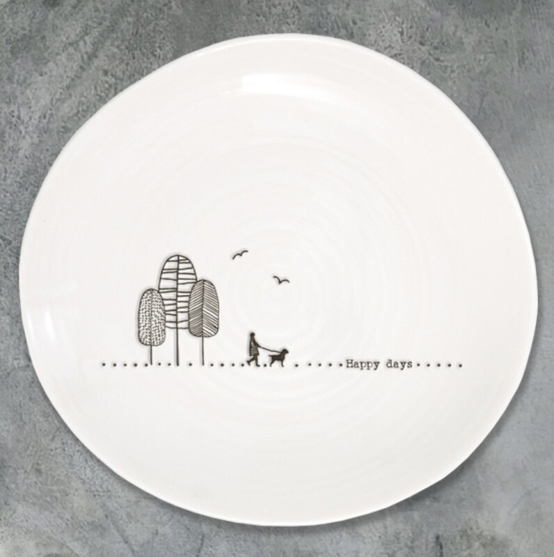 East of India Ceramic Happy Days Plate