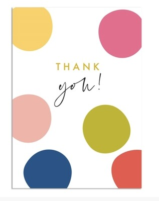 Pack of 8 Notecards Thank You Spots