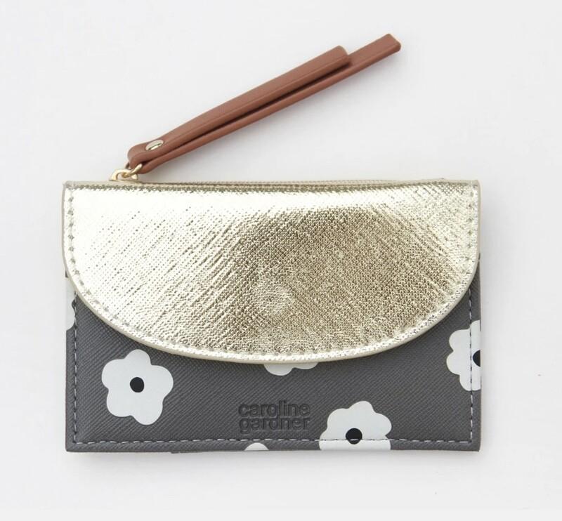 Caroline Gardner Small Coin / Card Purse - Daisy