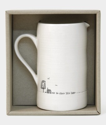 East of India Ceramic Jug - No place Like Home