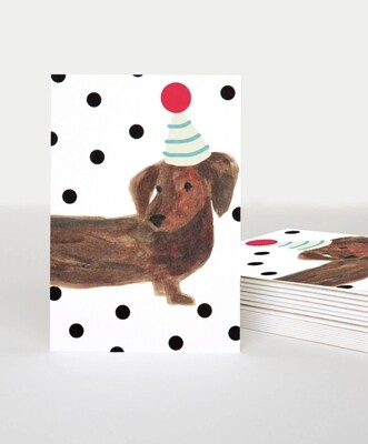 Pack of 10 Notecards Sausage Dog
