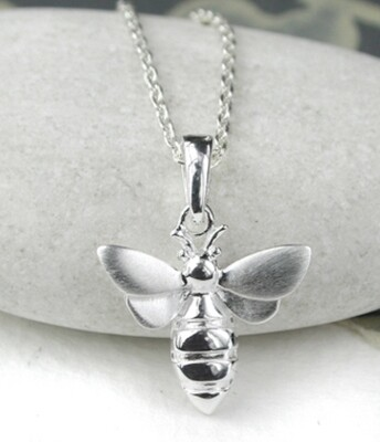 Pom Sterling Silver Bee Necklace